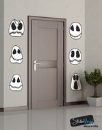 Halloween Ghost Skulls Wall Decal Sticker Decoration (Set of 6) #6099