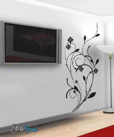 Vinyl Wall Decal Sticker Floral Flower Decal #609