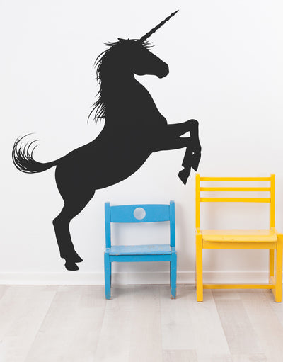 Unicorn Wall Decal Sticker. Girl's bedroom decor. Fantasy Silhouette Design. #6108