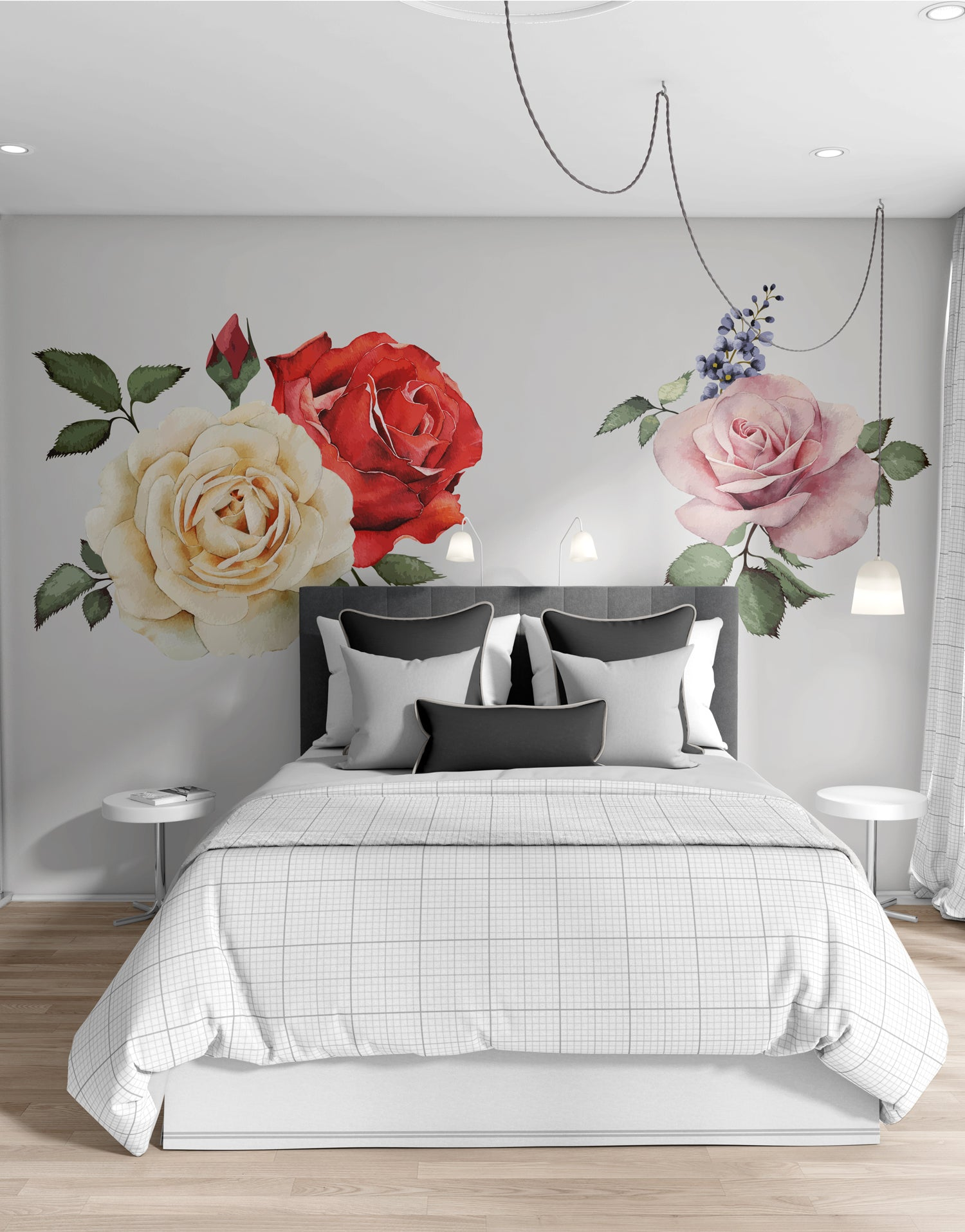 Peony Flower Wall Graphic Decal. Peel and Stick. #6120