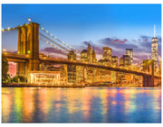 New York City Brooklyn Bridge Wall Mural Decal Sticker. #6149