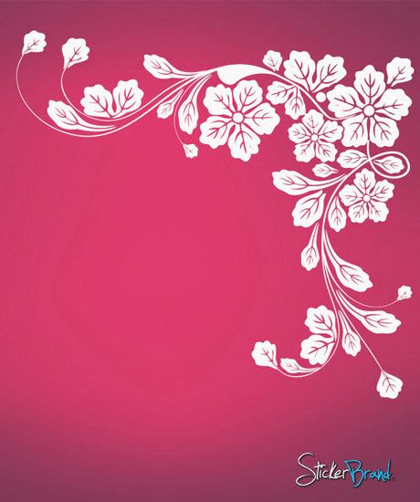 Vinyl Wall Decal Sticker Floral Corner #617