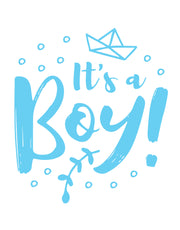 It's a Boy Gender Reveal Vinyl Wall Decal Sticker. Perfect decoration for a Baby Reveal / Baby Shower party. #6187