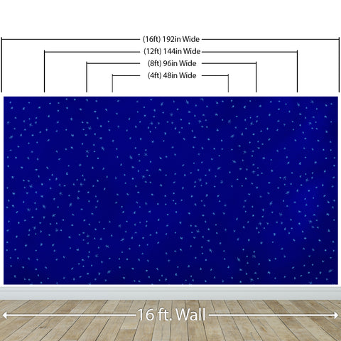 Starry Night on a Deep Blue Midnight Sky Wall Mural Decal. #6198
