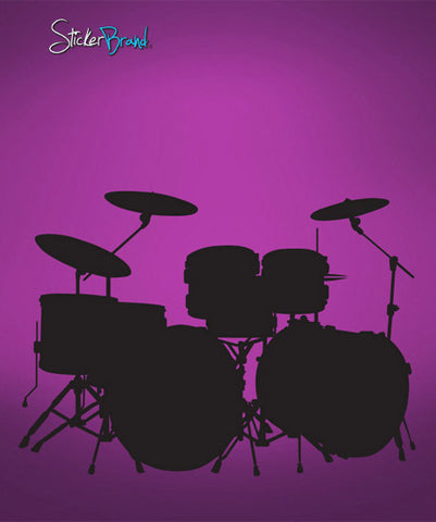 Vinyl Wall Decal Sticker Drum Set #619