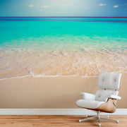Tropical White Sand Paradise Beach Ocean Wave Scenery Wall Mural. #6201