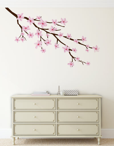Cherry Blossom Branch Graphic Wall Decal Sticker. Pink Sakura Branches. #6207