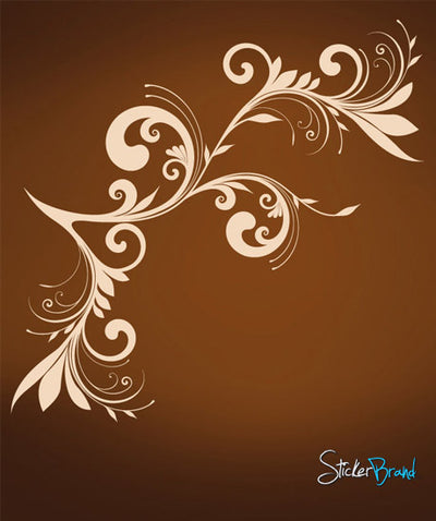 Vinyl Wall Decal Sticker Swirl Floral #620