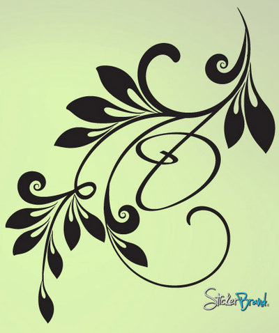 Vinyl Wall Decal Sticker Corner Swirl #621