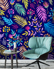 Bright Colorful Fern Arrangement Mural. #6223