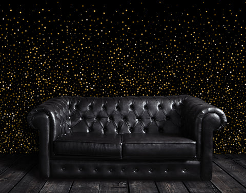 Gold Starry Night Mural #6226