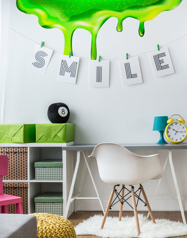 Green Slime Wall Decal Sticker
