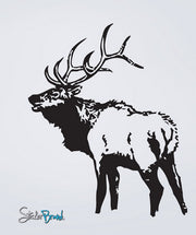 Elk Deer Vinyl Wall Decal Sticker. #623