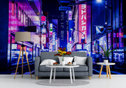 Tokyo Japan Retro 80's Synth Wave Pop Style Wall Mural. #6248