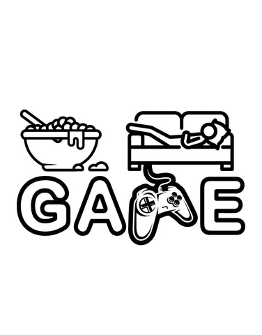 Eat, Sleep, Game Quote Gamer Wall Decal #6249