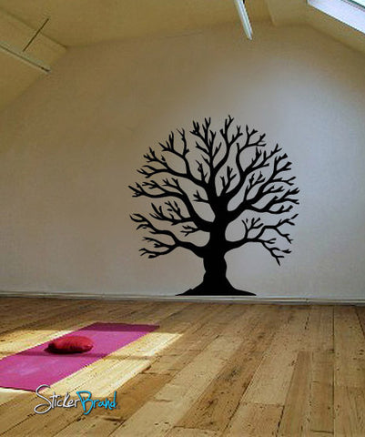 Vinyl Wall Decal Sticker Round Tree #624