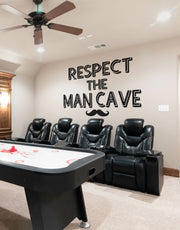Respect the Man Cave Quote Vinyl Wall Decal #6255