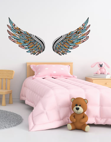 Angel Wings Graphic Wall Decal. Peel and Stick. #6256