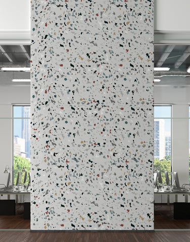 Terrazzo Mosaic Pattern Peel and Stick Wall Paper Mural. #6260