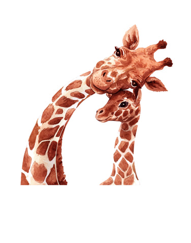 Mother and Baby Giraffe Graphic Wall Decal over Nursery.  #6262