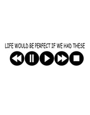 Life Would Be Perfect If We had These Quote Vinyl Wall Decal. Gamer Wall Decor. #6265
