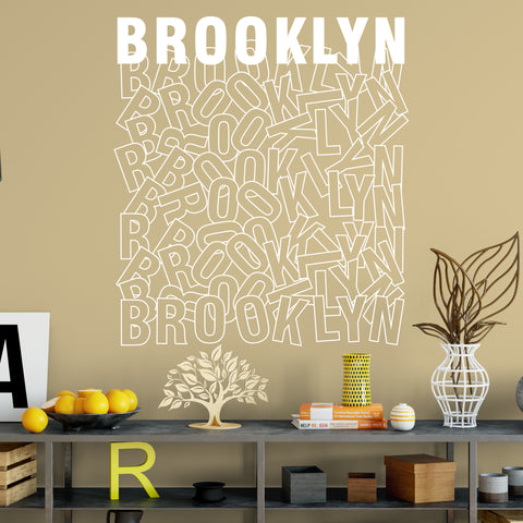 Brooklyn Sign Vinyl Wall Decal. #6271