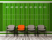 Football Field Wall Mural. 100 yard field with end zone large wall mural. #6276