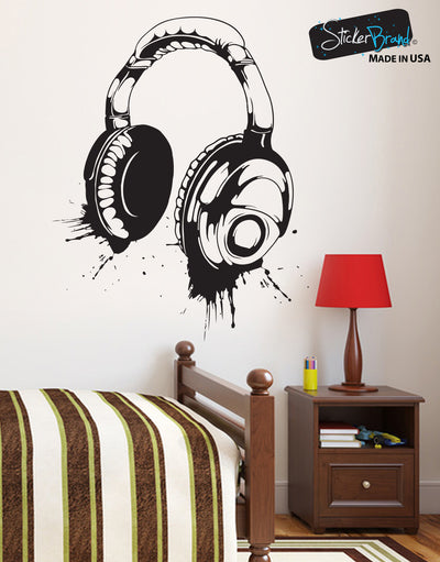 Headphones Wall Decal. Urban Decor. #643
