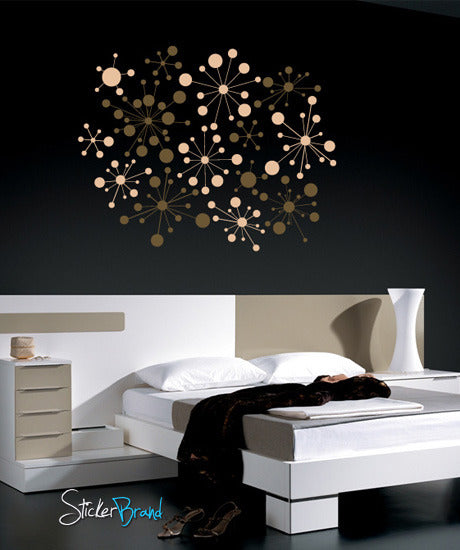 Vinyl Wall Decal Sticker Modern Wall Dots Pattern #645