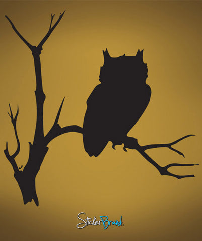 Vinyl Wall Decal Sticker Owl on Tree #647