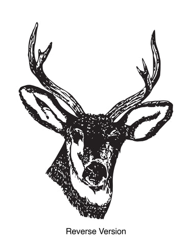 Deer Buck Head Vinyl Wall Decal Sticker.  #649