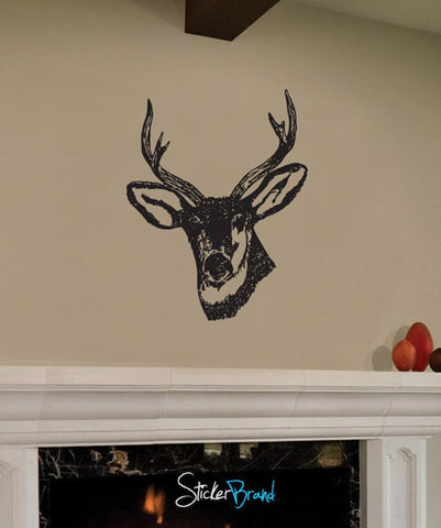 Vinyl Wall Decal Sticker Deer Head #649