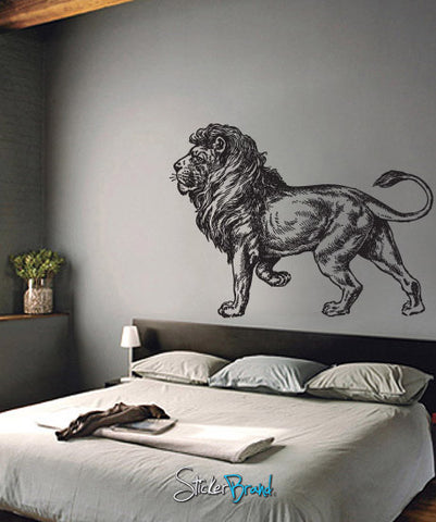 Vinyl Wall Decal Sticker Lion Safari #650