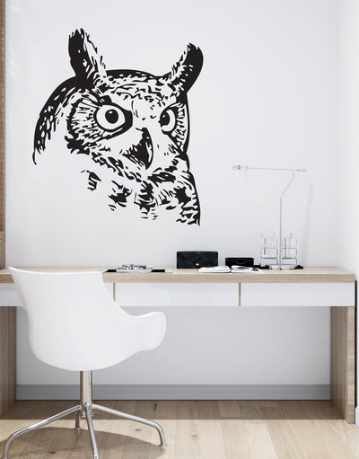 Owl Eyes Vinyl Wall Decal Sticker. Nature Wall Decor. #653