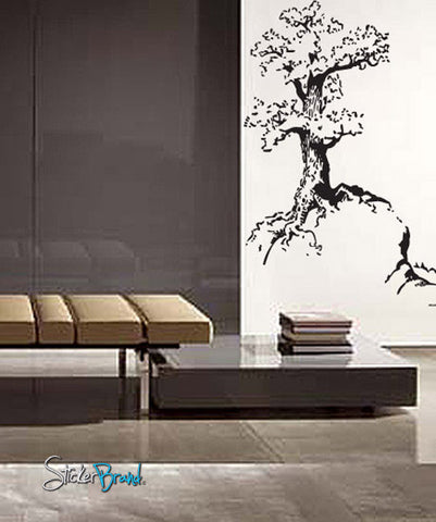 Vinyl Wall Decal Sticker Tree on Hill #654