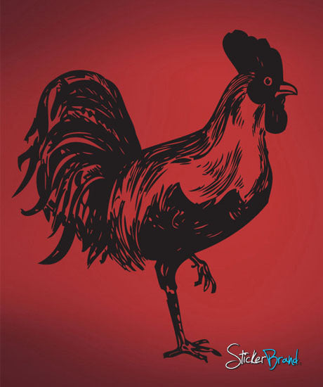 Vinyl Wall Decal Sticker Rooster 655