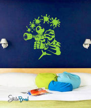 Vinyl Wall Decal Sticker Paintball Splat #659