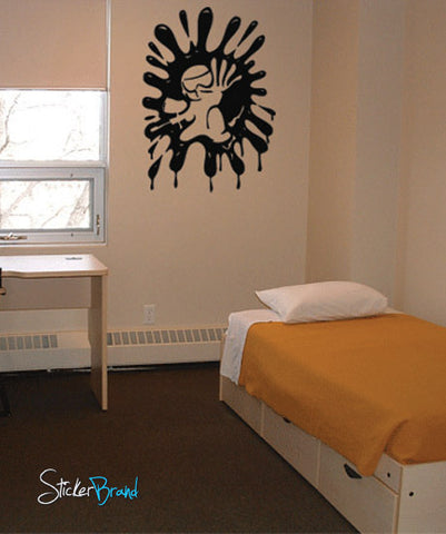 Vinyl Wall Decal Sticker Paintball Wall Splat #660
