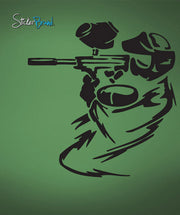 Vinyl Wall Decal Sticker Paintball Shooter #661