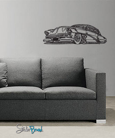 Vinyl Wall Decal Sticker Classic Hot Rod #668