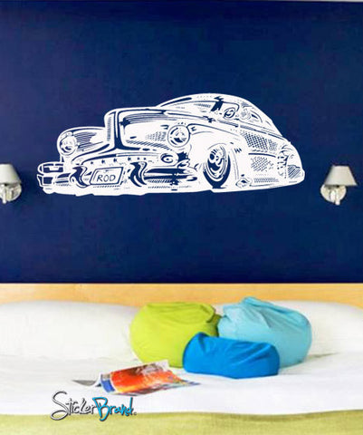 Vinyl Wall Decal Sticker Hot Rod #669