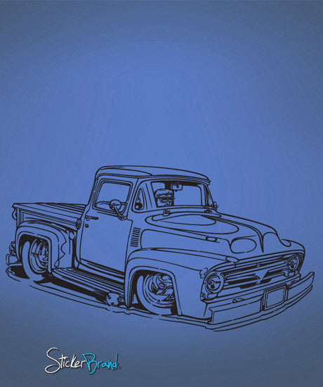 Vinyl Wall Decal Sticker Hot Rod Truck 670