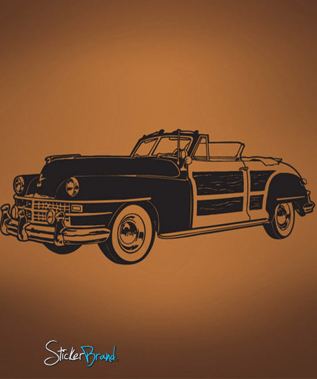 Vinyl Wall Decal Sticker Classic Woody Car #671