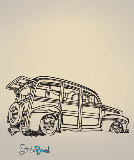 Vinyl Wall Decal Sticker Classic Car Beach Cruiser #672