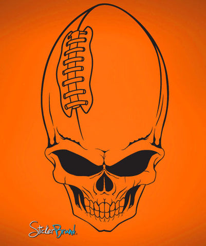 Vinyl Wall Decal Sticker Football Skull #674