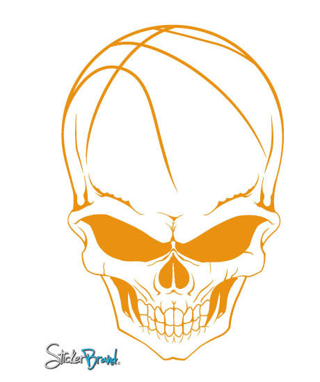 Vinyl Wall Decal Sticker Basketball Skull #676