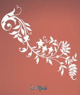 Vinyl Wall Decal Sticker Swirl Flower #685