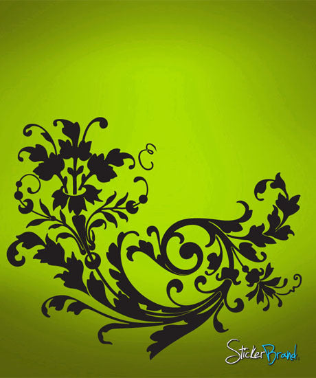 Vinyl Wall Decal Sticker Swirl Flower #687