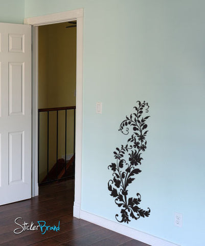 Vinyl Wall Decal Sticker Swirl Flower #688