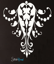 Vinyl Wall Decal Sticker Swirl Flare Pattern #690